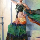 Faux Georgette Partywear Designer Printed Saree Sari With Blouse - X 2536 N