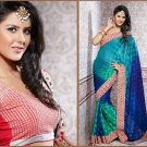 Jacquard Partywear Bridal Designer Embroidered Sari Saree with Blouse - X 227 N