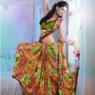 Faux Georgette Partywear Designer Printed Saree Sari With Blouse - X 2529 N