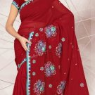 Partywear Faux Georgette Designer Embroidered Saris Saree With Blouse- LS 2412 N