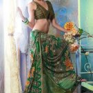 Faux Georgette Partywear Designer Printed Saree Sari With Blouse - X 2537 N