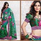Net Partywear Bridal Designer Embroidered Sari Saree with Blouse - X 218 N
