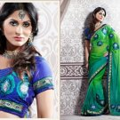 Georgette Partywear Bridal Designer Embroidered Sari Saree with Blouse - X 220 N