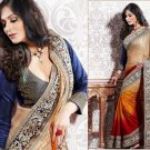 Jacquard Partywear Bridal Designer Embroidered Sari Saree with Blouse - X 208 N