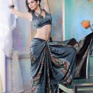 Faux Georgette Partywear Designer Printed Saree Sari With Blouse - X 2540 N