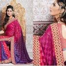 Jacquard Partywear Bridal Designer Embroidered Sari Saree with Blouse - X 225 N