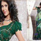 Georgette Partywear Bridal Designer Embroidered Sari Saree with Blouse - X 214 N