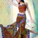 Faux Georgette Partywear Designer Printed Saree Sari With Blouse - X 2507 N