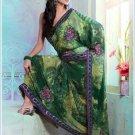 Faux Georgette Partywear Designer Printed Saree Sari With Blouse - X 2503 N
