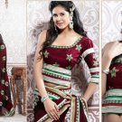 Georgette Partywear Bridal Designer Embroidered Sari Saree with Blouse - X 223 N