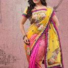 Faux Georgette Partywear Designer Embroidered Sari Saree With Blouse - X 7335B N