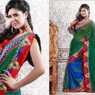 Chiffon Partywear Bridal Designer Embroidered Sari Saree with Blouse - X 215 N