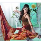 Faux Georgette Partywear Designer Printed Saree Sari With Blouse - X 2525 N