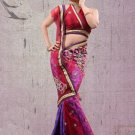 Faux Georgette Partywear Designer Embroidered Sari Saree With Blouse - X 7335D N