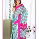 Partywear Georgette Exclusive Designer Printed Saree With Blouse - X 922 N