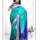 Partywear Faux Georgette Exclusive Designer Printed Saree With Blouse - X 910 N