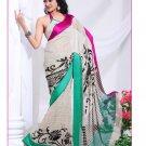Partywear Georgette Exclusive Designer Printed Saree With Blouse - X 903 N