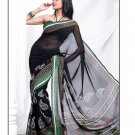 Partywear Georgette Exclusive Designer Printed Saree With Blouse - X 904 N