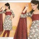 Soft Cotton Partywear Printed Shalwar & Salwar Kameez With Dupatta - X 5536 N