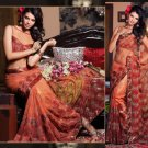 Net Bridal Wedding Designer Embroidery Saree with Blouse - X 2509 N