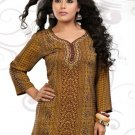 Indian Bollywood Faux Crepe Partywear Kurti Kurta Tops - X 42