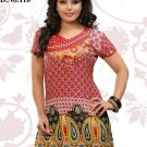 Indian Bollywood American Crape Partywear Printed Kurti Kurta Tops - X 116