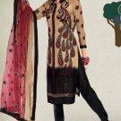 Designer Embroidered Suit Shalwar Salwar Kameez Indian Bollywood - X 3007