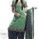 Designer Embroidered Suit Salwar Salwar Kameez Indian Bollywood- X1713b