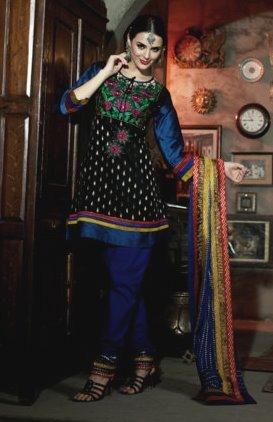 Chanderi Bridal  Designer Embroidered Salwar Kameez With Dupatta - X 2709A N