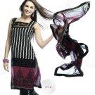 Designer Embroidered Suit Salwar Salwar Kameez Indian Bollywood- X1717a