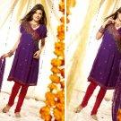 Salwar Shalwar Kameez Indian Designer Embroidered Bollywood Suit - X 1402