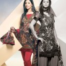 Shalwar Salwar Kameez Indian Designer Embroidered Crepe Suit - X 111
