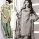 Shalwar Salwar Kameez Indian Designer Embroidered Crepe Suit - X 108