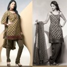 Shalwar Salwar Kameez Indian Designer Embroidered Crepe Suit - X 100