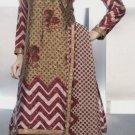 Shalwar Salwar Kameez Indian Designer Embroidered Crepe Suit - X 13