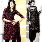 Shalwar Salwar Kameez Indian Designer Embroidered Crepe Suit - X 103