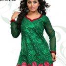 Indian Bollywood Korra Silk Partywear Embroidered Kurti Kurta Tops - X 110b