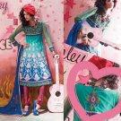 Indian Bollywood Designer Embroidered Suit Shalwar Salwar Kameez - X2843