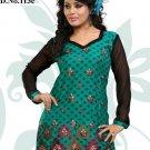 Indian Bollywood Cotton Jaquard Partywear Embroidered Kurti Kurta Tops - X 113c