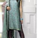 Shalwar Salwar Kameez Indian Designer Embroidered Crepe Suit - X 101