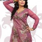 Indian Bollywood Korra Silk Partywear Embroidered Kurti Kurta Tops - X 111c