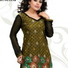 Indian Bollywood Cotton Jaquard Partywear Embroidered Kurti Kurta Tops - X 113a
