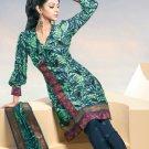 Shalwar Salwar Kameez Indian Designer Embroidered Crepe Suit - X 99