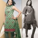 Shalwar Salwar Kameez Indian Designer Embroidered Crepe Suit - X 94