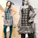 Shalwar Salwar Kameez Indian Designer Embroidered Crepe Suit - X 76