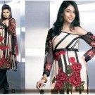 Shalwar Salwar Kameez Indian Designer Embroidered Crepe Suit - X 57