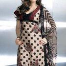 Shalwar Salwar Kameez Indian Designer Embroidered Crepe Suit - X 27