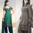 Shalwar Salwar Kameez Indian Designer Embroidered Crepe Suit - X 98