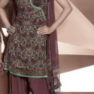 Shalwar Salwar Kameez Indian Designer Embroidered Crepe Suit - X 31
