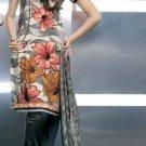Shalwar Salwar Kameez Indian Designer Embroidered Crepe Suit - X 17